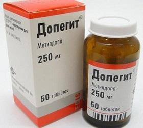 Таблетки от давления для беременных допегит