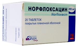 норфлоксацин от простатита