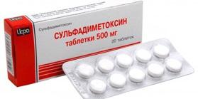 Сульфадиметоксин таблетки