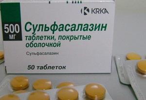 Сульфасалазин таблетки