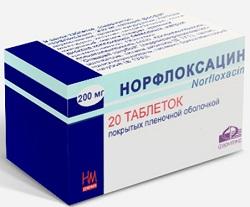 Норфлоксацин таблетки