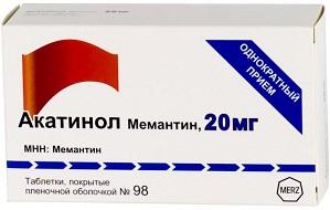 Акатинол мемантин 20vu